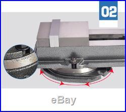 100mm CNC Vise Milling Machine Lockdown Vise with Swivel Base 4 Y