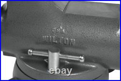 28834 Wilton 800S Machinist 8 Jaw Round Channel Vise with Swivel Base