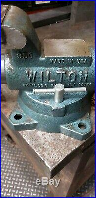 3-1/2 Wilton Vise with Swivel Base Machinist Bullet Vice Chicago 3.5 350