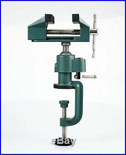 3 Bench Vise Table Top Clamp Press Locking Swivel Base Heavy Duty with Anvil