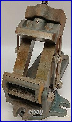 4 Industrial Palmgren adjustable 90 degree angle vise with degreed & swivel base