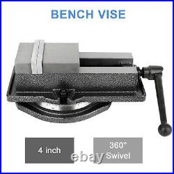 4 Machine Vise Clamp Drill Press Bench Vice with Swivel Base Metal Milling
