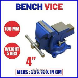 4 inch Jaws Bench Vise Table Desk Vice Swivel Base Workbench Craft Maker Tool