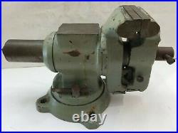 5 Jaws Rotating Pipe Bench Vise Swivel Base vice vintage tool anvil flat back