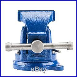 5 Mechanic Bench Vise Table Top Clamp Press Locking Swivel Base Heavy Duty New