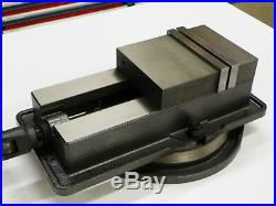 6 ANG-LOCK VISE PRECISION MILLING MACHINE With SWIVEL BASE #850-600 TB006