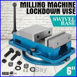 6 Milling Machine Lockdown Vise Swivel Base Drilling Acme Screws Hardened Metal