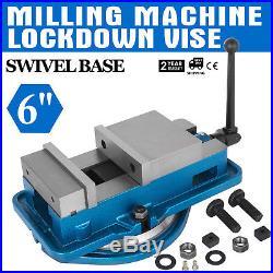 6 Milling Machine Lockdown Vise Swivel Base Swivel Base Acme Screws 360 Degree