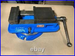 6 Milling Machine Vise DoALL Professional Duty with Swivel Base, Restored