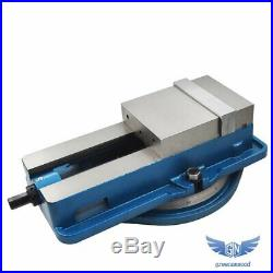 6 x 7-1/2 Precision Mill Vise Anti-Jaw Lifting With Swivel Base New