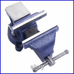 8 Bench Vise Swivel locking base Workshop Portable Maximum clamp hold power