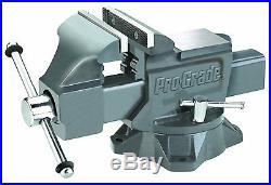 8 Inch Mechanic Bench Vise Table Top Clamp Press Locking Swivel Base Pipe Jaws