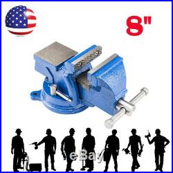 8 Mechanic Bench Vise Table Top Clamp Press Locking Swivel Base High Quality