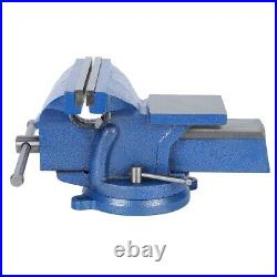 8in Mechanic Bench Vise Table Clamp Press Locking Swivel Base Heavy Duty