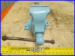 ATHOL 624N 4 Jaw Machinist Bench Table Work Vise Swivel Base Opens to 5-1/2