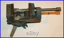 A Vintage Stanley Machinist Vise No. 5992A Locking Swivel Base