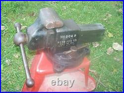 American Made Reed No. 204r Swivel Base 4 Inch Bench Vise