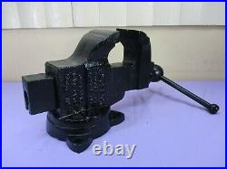 Antique 1910 Chas. Parker 229X Machinist Bench Vise with Swivel Base USA