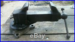 Antique Reed #203 3 Swivel Bench Vise Erie Pa 1914 pat (Hairline crack in base)