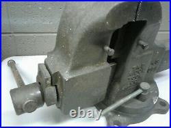 Antique Ridge Tool Co #43 CPN Bench Vise Swivel Base 4.5 Jaws 70lbs (dd) (a43)