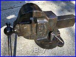 Athol 624 Swivel Base Vise Industrial Machinists Mechanics Blacksmith
