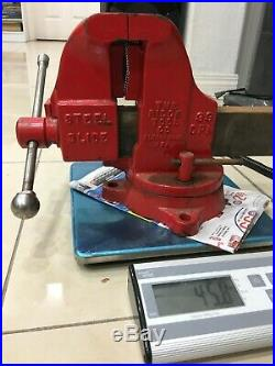 Big Vise Vintage Simplex Bench Vice With Swivel Base And Pipe Jaw Made In USA