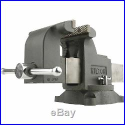 Cast Iron Workshop Clamp Bench Vise 8in. W Jaw with 360° Swivel Locking Base