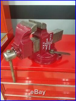 Chas. Parker Co Vise No. 974 Swivel Base with Original Wrench