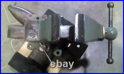 Chas Parker Machinist Vise 22X swivel base, 3-3/4 jaws, 53#, Nice Piece