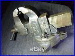 Chas Parker No. 973 Bench Vise 3 Jaw & Swivel Base Machinist Vise Blacksmith