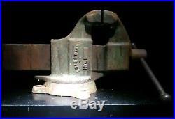 Columbian VISE 604 4 jaw -swivel base- blacksmith anvil vintage GREAT ITEM