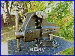 Craftsman 4'' Jaw Bench Vise, Heavy Duty, With Swivel Base & Pipe Grips, 25 Lb Vice