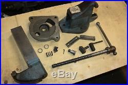 EXCELLENT LS STARRETT SWIVEL base ATHOL BENCH VISE 924 USA wilton chas parker
