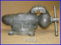 Early Wilton No. 4 Bullet Vise 4 Jaws With Swivel Base Machinist Bench Vise