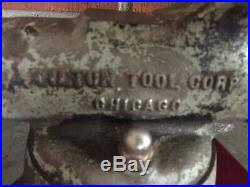 Estate Vintage Wilton No. 3 3 Bullet Vise Chicago Swivel Base USA 7/46
