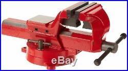 Forged Steel Bench Vise with Swivel Base Mechanic Heavy Duty Table Vice Clamp Tool