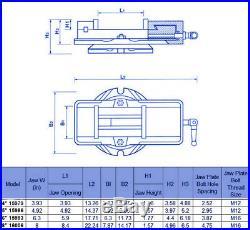 HFS New 8 Milling Machine Lockdown Vise Swiveling Base Hardened Metal CNC Vise