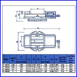 HFS(R) 5 Milling Machine Lockdown Vise -Swiveling Base