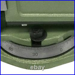 Heavy Duty 5'' Milling Vise With Swivel Base 360 Degree Rotation