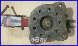 Heavy Duty Chas. Parker No. 824 Bench Vise Swivel Base 85 Lb Made In USA Vice
