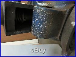 Heavy Duty ERON Bench Vise Swivel Mounted Base Machinist 5Jaw Lathe Mill Japan