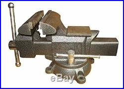 Heavy-Duty Forged Steel Utility Vise 6-1/2 with 360-Degree Swivel Base