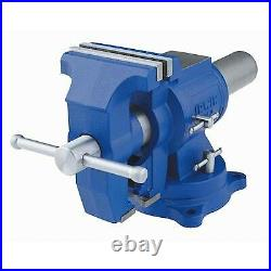 IRWIN 5-in Heavy Duty Cast Iron Multi-purpose Bench Vise Vice With360 Swivel Base