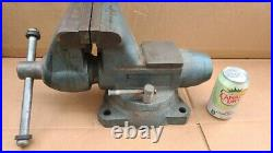 Jumbo Wilton Bullet Bench vise 6 Wide Jaws with Swivel Base, Model 1760, USA Made