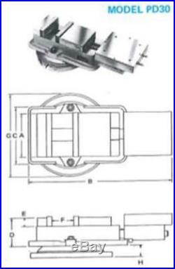 KURT ANGLOCK PD-30-1 AIR POWER PRECISION MACHINE VISE WiTH SWIVEL BASE