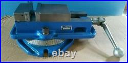 Kurt 4 Angle-Lock Mill Vise with Swivel Base and Work Stop