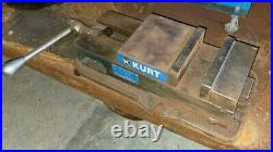 Kurt 6 D675 Precision Milling Machine Vise and 360 Swivel Base withHandle & Jaws