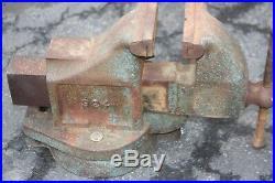 LOT of 4 big vises for one price! Starrett and 3 Wilton Bullet Vise Swivel Base