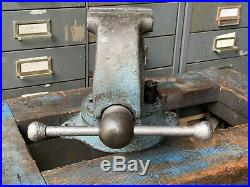 LS Starrett Athol Bench Vise 923-1/2. Swivel Base Vice
