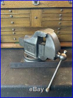 LS Starrett Co. 923 Athol 3 Machinist Work Bench Vise withSwivel Base